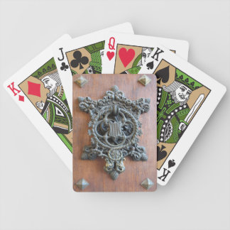 Grunge Wood with Coat of Arms Poker Cards