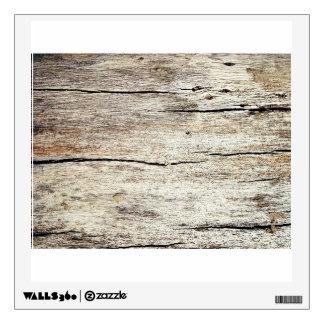 Grunge Wooden Wall Wall Sticker