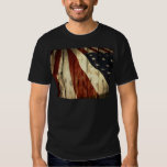 Grunge woodgrain USA American Flag Patriotic Shirts