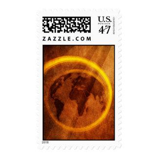 Grunge World Postage