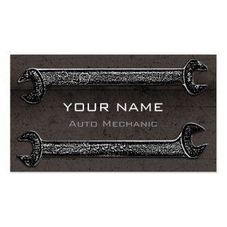 Grunge Wrenches Brown Business Card