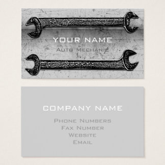 Grunge Wrenches Grey ID321 Business Card