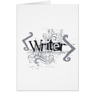 Grunge Writer Card