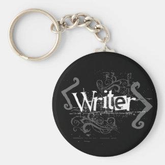 Grunge Writer Keychain