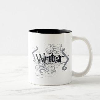 Grunge Writer Two-Tone Coffee Mug