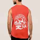 Grunge y cráneo apenado del pirata - camisa