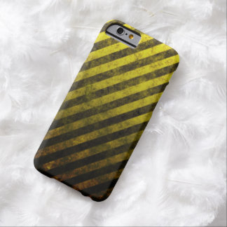 Grunge Yellow And Black Striped iPhone 6 Case