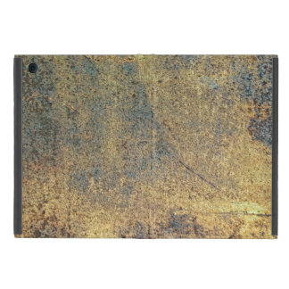 Grunge Yellow & Blue Rusted Metal Pattern Cover For iPad Mini