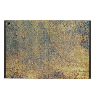 Grunge Yellow & Blue Rusted Metal Pattern iPad Air Cover