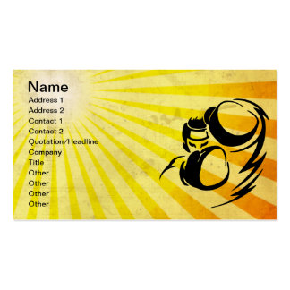Grunge yellow Boxer Double-Sided Standard Business Cards (Pack Of 100)