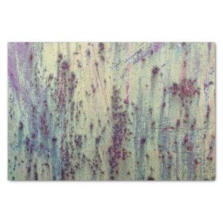 Grunge Yellow & Magenta Rusted Metal Pattern Tissue Paper