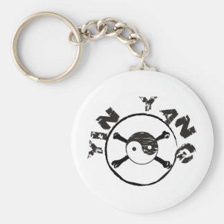 Grunge Yin Yang Keychain