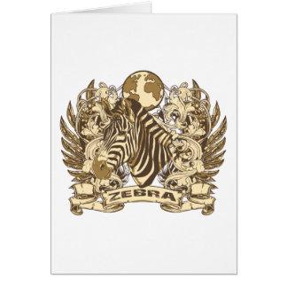 Grunge Zebra Card