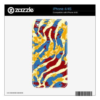 GRUNGE ZEBRA iPhone Skin Skins For iPhone 4S