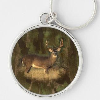 Grunged Camoflage- Big Buck- Keychain