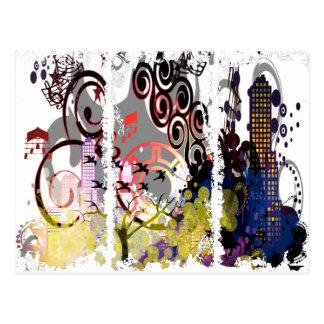 Grunged City Postcard