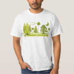 Grunged Pines Moon - T-Shirt
