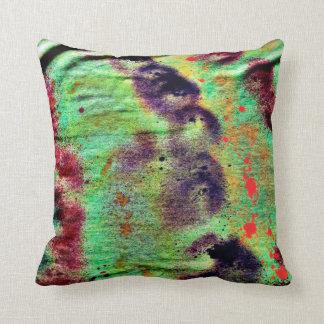 grunged yellow blotches fabric image pillow