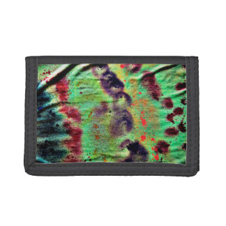 grunged yellow blotches fabric image trifold wallets
