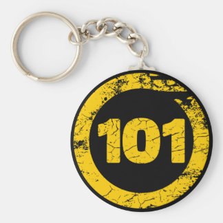 Grungy 101 keychain