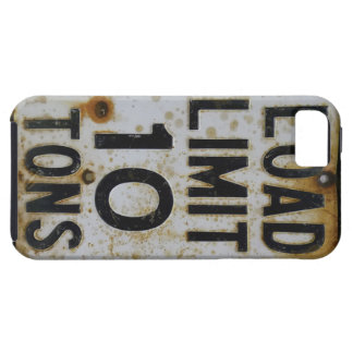 Grungy 1950s Load Limit US Sign 1950s iPhone SE/5/5s Case