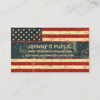 Grungy American Flag Business Card