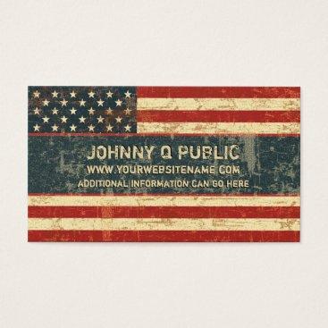 JerryLambert Grungy American Flag Business Card