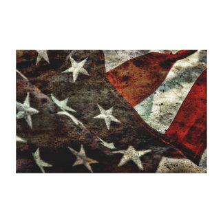 Grungy American flag Canvas Print