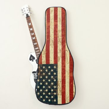 USA Themed Grungy American Flag Guitar Case