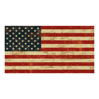 Grungy American FLag Poster