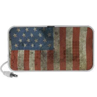 Grungy American flag speaker