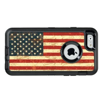 Grungy American Flag Usa Otterbox Defender Iphone Case by JerryLambert at Zazzle