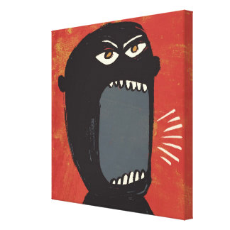 Grungy Angry Man Canvas Print