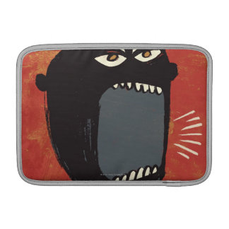 Grungy Angry Man MacBook Sleeve