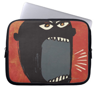 Grungy Angry Man Laptop Computer Sleeve