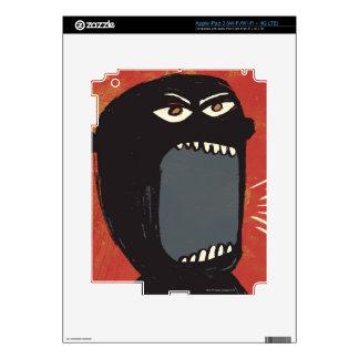 Grungy Angry Man iPad 3 Skin