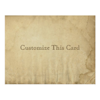 Grungy Antique Stained Blank Paper - Rustic DIY Postcard