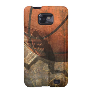 Grungy Basketball Case Galaxy SII Covers