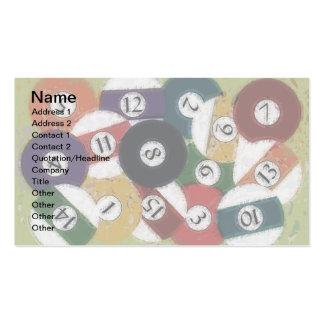 GRUNGY BILLIARDS BALLS BUSINESS CARD