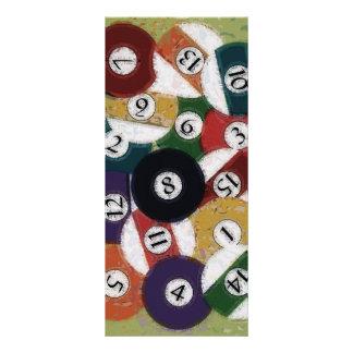 GRUNGY BILLIARDS BALLS RACK CARD