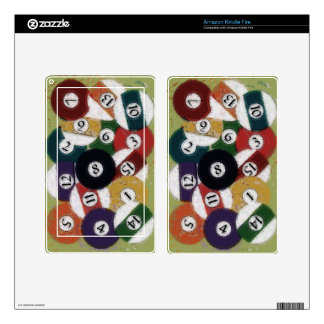 GRUNGY BILLIARDS BALLS SKIN FOR KINDLE FIRE