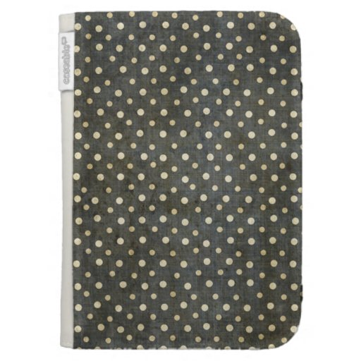 Grungy Black and White Polka Dot Pattern Kindle Covers