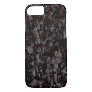 Grungy Black Splatter, Watercolor Painting, Mobile iPhone 8/7 Case
