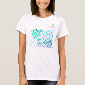 Grungy Blue Chevron Design T-Shirt
