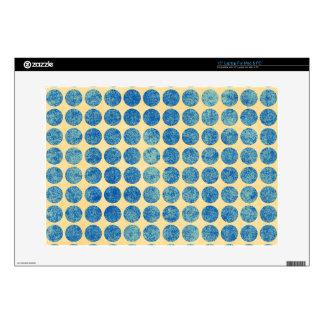 Grungy Blue Denim Dots Modern Navy Blue Decal For Laptop