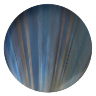Grungy Blue Gold Lines Texture Background Melamine Plate