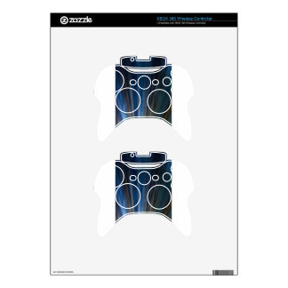 Grungy Blue Gold Lines Texture Background Xbox 360 Controller Skins