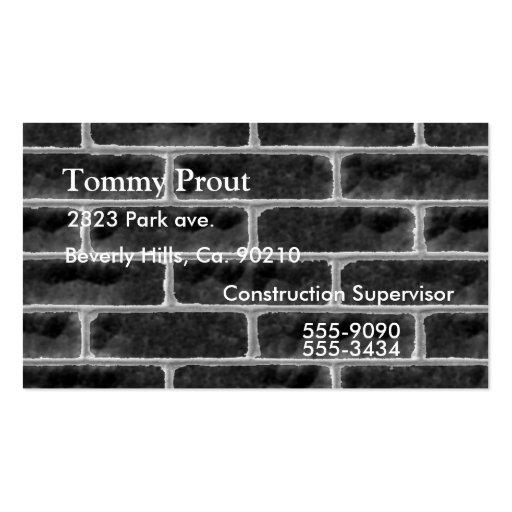 Grungy Brick Wall Business Card