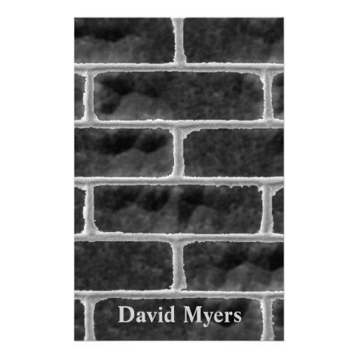 Grungy Brick Wall Stationery Design
