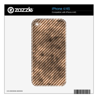 Grungy Brown Diagonal Stripes Decals For iPhone 4